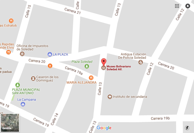mapa Museo Bolivariano